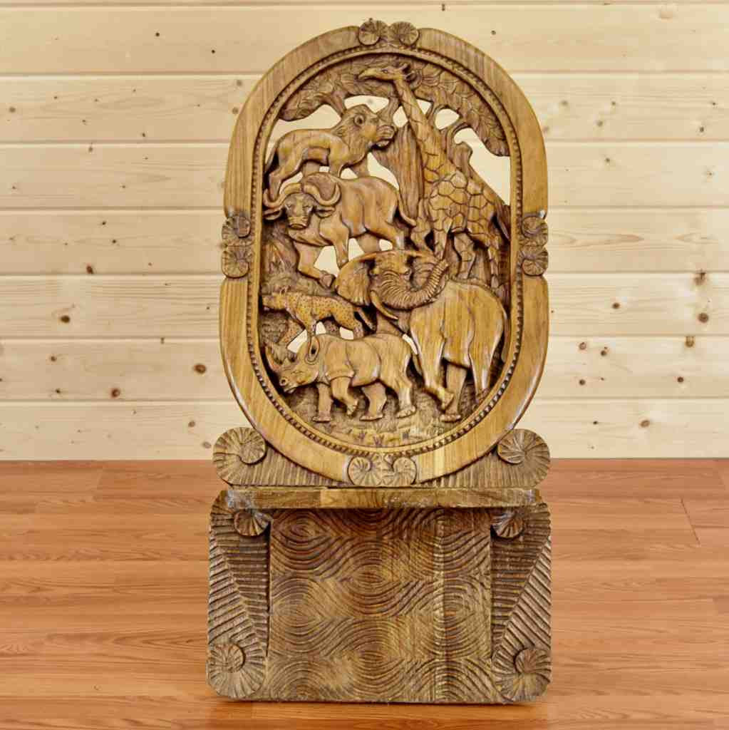 Hand Carved African Birthing Chair   SW8892