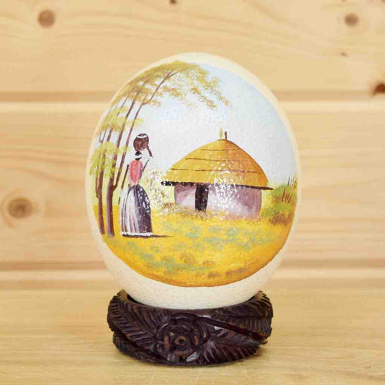 Painted African Ostrich Egg