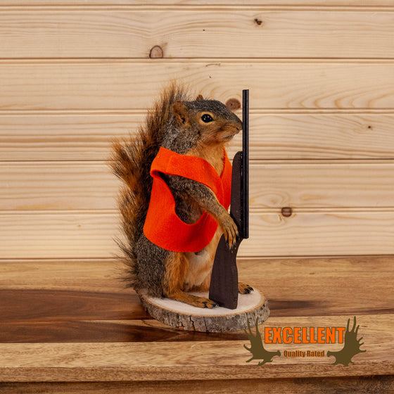 hunting hunter red fox squirrel full body taxidermy mount for sale