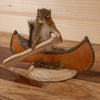 Chipmunk Paddling a Canoe Full Body Taxidermy Mount SW10462