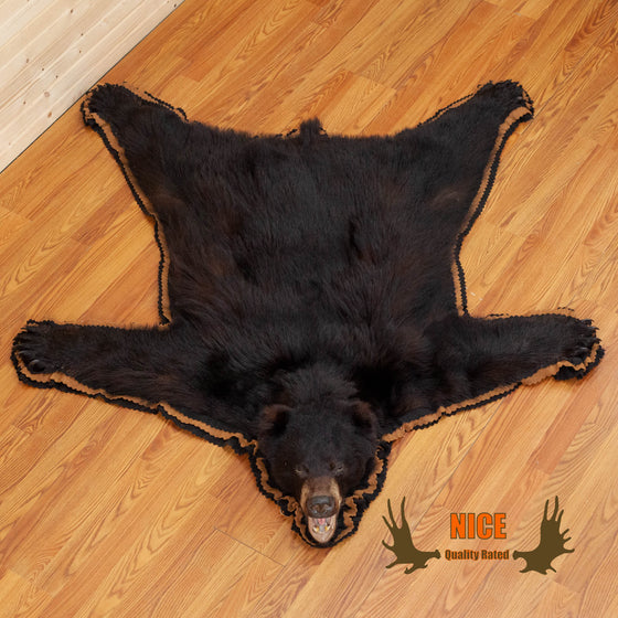 black bear rug double felted for sale