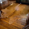 Premier Jumbo #1 Burnt Orange, Brown & Cream Cowhide Rug SW10719