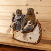 Pair of Squirrels Paddling a Birch Bark Canoe Taxidermy Mount SW10769