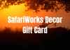 safariworks decor gift card taxidermy decor cabin lodge rustic primitive farmhouse