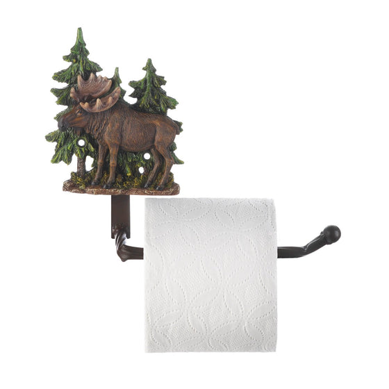 moose pine trees decorative toilet paper holder for sale