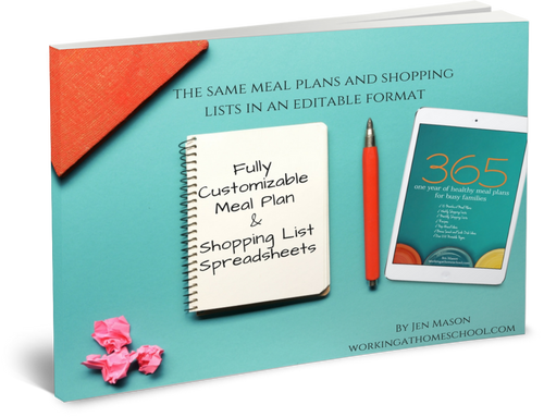 Editable Upgrade to 365: One Year of Healthy Meal Plans for Busy Families - Digital Download