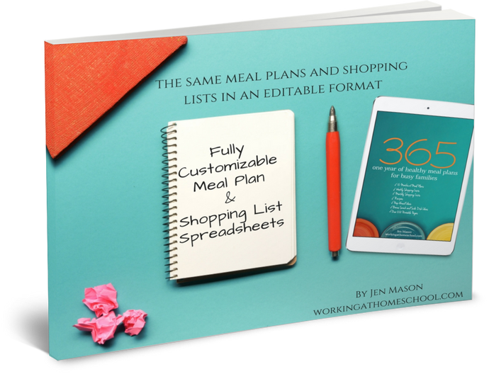 Editable Upgrade to 365: One Year of Healthy Meal Plans for Busy Families