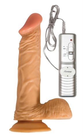 LoveCubby - Realistic Dildos - 8 Inch Vibe All American Whopper with Balls by Nasstoys