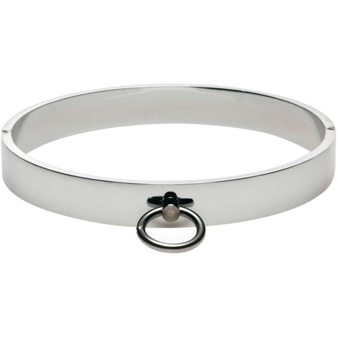 LoveCubby - Collars - Chrome Slave Collar - SmallMedium by Master Series