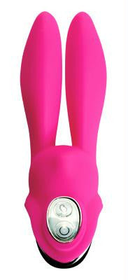 LoveCubby - Classic Vibrators - Velvateen 7 Mode Silicone Rabbit Stimulator by Vogue