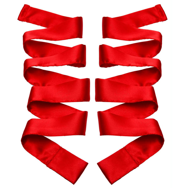 LoveCubby - Restraints - Scarlet Red Satin Sash Set by Greygasms