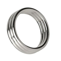LoveCubby - Cock Rings - Echo 2 Inch Stainless Steel Triple Cock Ring by Master Series