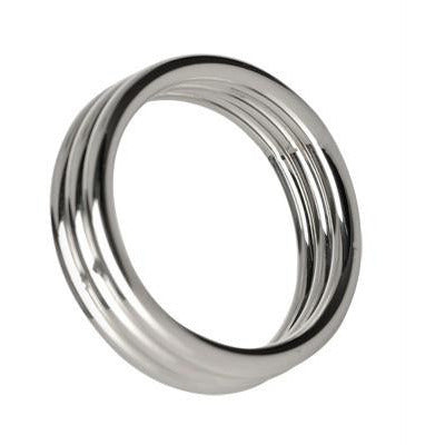 LoveCubby - Cock Rings - Echo 1.75 Inch Stainless Steel Triple Cock Ring by Master Series