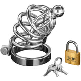 LoveCubby - Chastity - Asylum 6 Ring Locking Chastity Cage - Small/Medium by Master Series