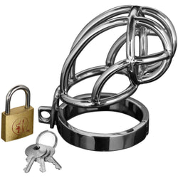 LoveCubby - Chastity - Captus Stainless Steel Locking Chastity Cage by Master Series