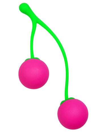 LoveCubby - Kegel & Ben Wa Balls - Charming Cherries Silicone Kegel Exercisers by Frisky