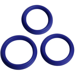 LoveCubby - Cock Rings - 3 Piece Silicone Erection Rings by Trinity Vibes