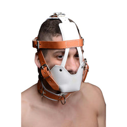 LoveCubby - Muzzles - White and Tan Hospital Style Leather Muzzle by Strict Leather