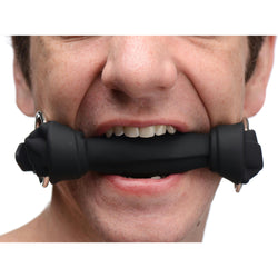 LoveCubby - Mouth Gags - Silicone Bone Gag - Black by Master Series