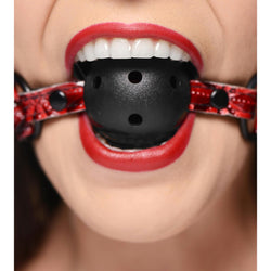 LoveCubby - Mouth Gags - Crimson Tied Breathable Ball Gag by Master Series