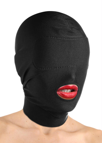 LoveCubby - Hoods & Blindfolds - Disguise Open Mouth Hood with Padded Blindfold by Master Series