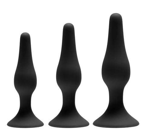 LoveCubby - Butt Plugs - Apprentice 3 Piece Silicone Anal Trainer Set by Greygasms