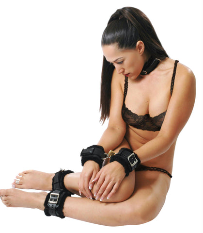 LoveCubby - Restraints - Fur Lined Leather Bondage Essentials Kit by Strict Leather