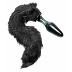 LoveCubby - Butt Plugs - Midnight Fox Tail Glass Anal Plug by Tailz