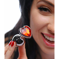 LoveCubby - Butt Plugs - Crimson Tied Scarlet Heart Jewel Anal Plug by Master Series