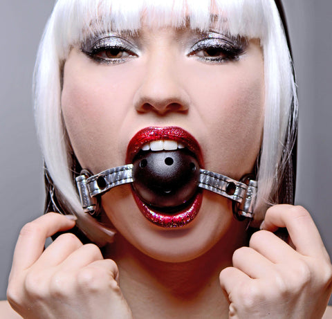LoveCubby - Mouth Gags - Platinum Bound Gagged Breathable Ball Gag by Master Series
