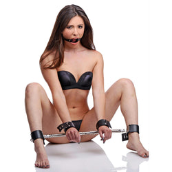 LoveCubby - Restraints - Unrestricted Access Spreader Bar Kit with Ring Gag by Master Series