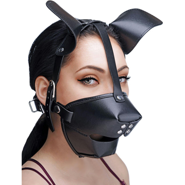 LoveCubby - Muzzles - Pup Puppy Play Hood and Breathable Ball Gag by Master Series