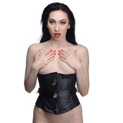 LoveCubby - Clothing & Lingerie - Strict Leather Locking Corset- Small by Strict Leather