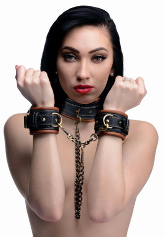 LoveCubby - Collars - Coax Collar to Wrist Restraints by Master Series