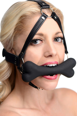 LoveCubby - Mouth Gags - Hound Bone Gag Head Harness by Master Series