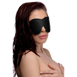 LoveCubby - Hoods & Blindfolds - Black Fleece Lined Blindfold by Strict