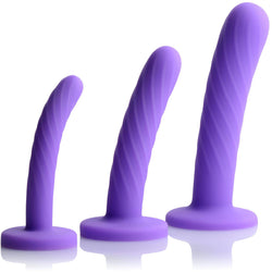 LoveCubby - Non-Realistic Dildos - Tri-Play 3 Piece Silicone Dildo Set by Strap U
