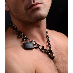 LoveCubby - Collars - Stainless Steel Gunmetal Collar with Lock by Xr Brands