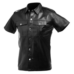 LoveCubby - Clothing & Lingerie - Lambskin Leather Police Shirt by Strict Leather