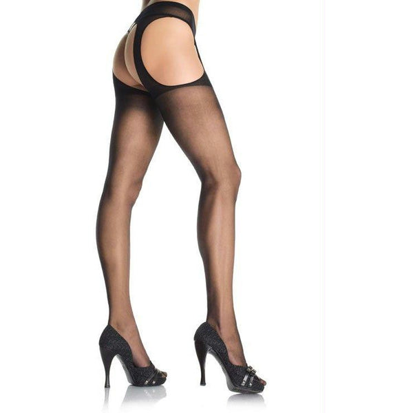 LoveCubby - Clothing & Lingerie - Sheer Suspender Pantyhose by Leg Avenue