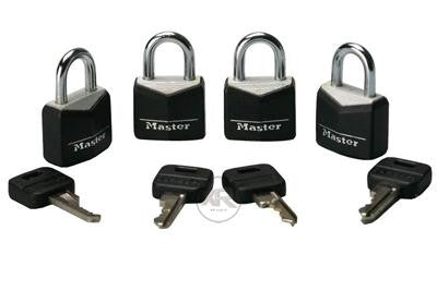 LoveCubby - Misc. Bondage Gear - 4 Pack Steel Masterlocks by Master Lock