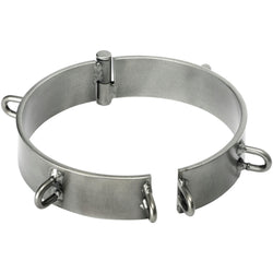 LoveCubby - Collars - Steel Slave Collar - Clearcoat 5 inch by Kink Industries