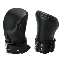 LoveCubby - Misc. Bondage Gear - Strict Leather Deluxe Padded Fist Mitts- ML by Strict Leather
