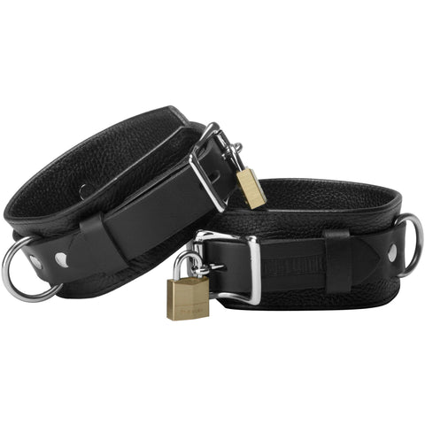 LoveCubby - Restraints - Strict Leather Deluxe Locking Wrist Cuffs by Strict Leather