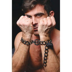 LoveCubby - Restraints - Tom of Finland Locking Chain Cuffs by Tom Of Finland