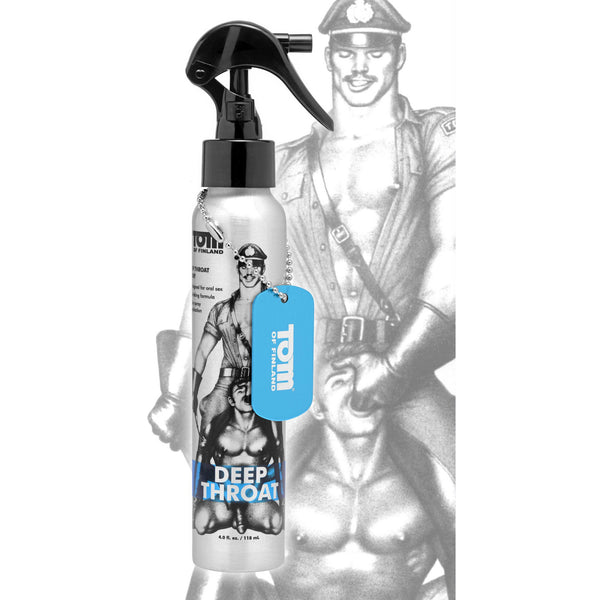 LoveCubby - Herbals & Creams - Tom of Finland Deep Throat Spray- 4 oz by Tom Of Finland