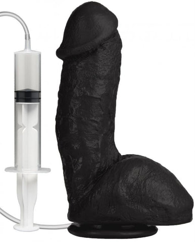 LoveCubby - Realistic Dildos - The Realistic Squirt Cock - Black by Doc Johnson