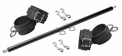 LoveCubby - Restraints - Black Doggy Style Spreader Bar Kit with Cuffs by Master Series