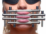 LoveCubby - Misc. Bondage Gear - Stainless Steel Lips and Tongue Press by Master Series