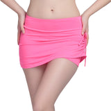 High Elastic Plus Size Women Short Jeans Fake Two Pieces Side - Cantik Menawan